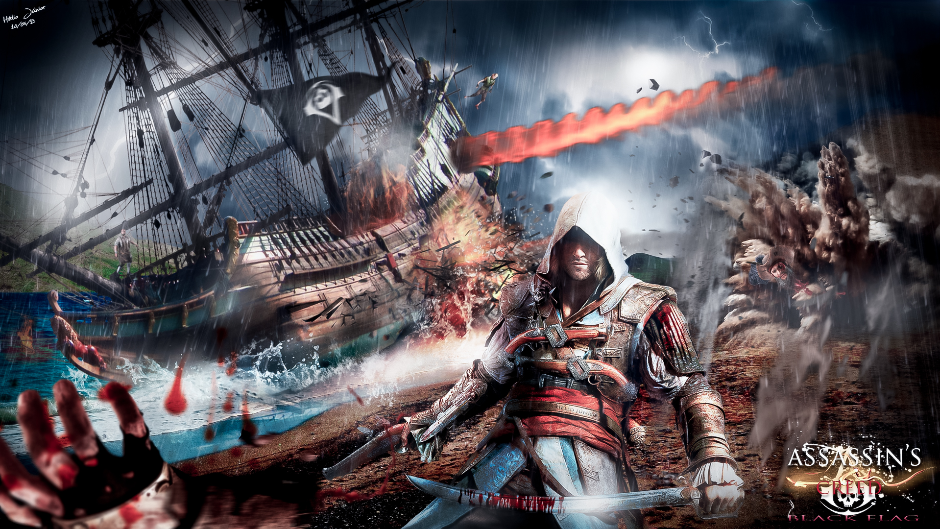 Edward Kenway Assassin S Creed Black Flag Iv 4 By Junnioor On