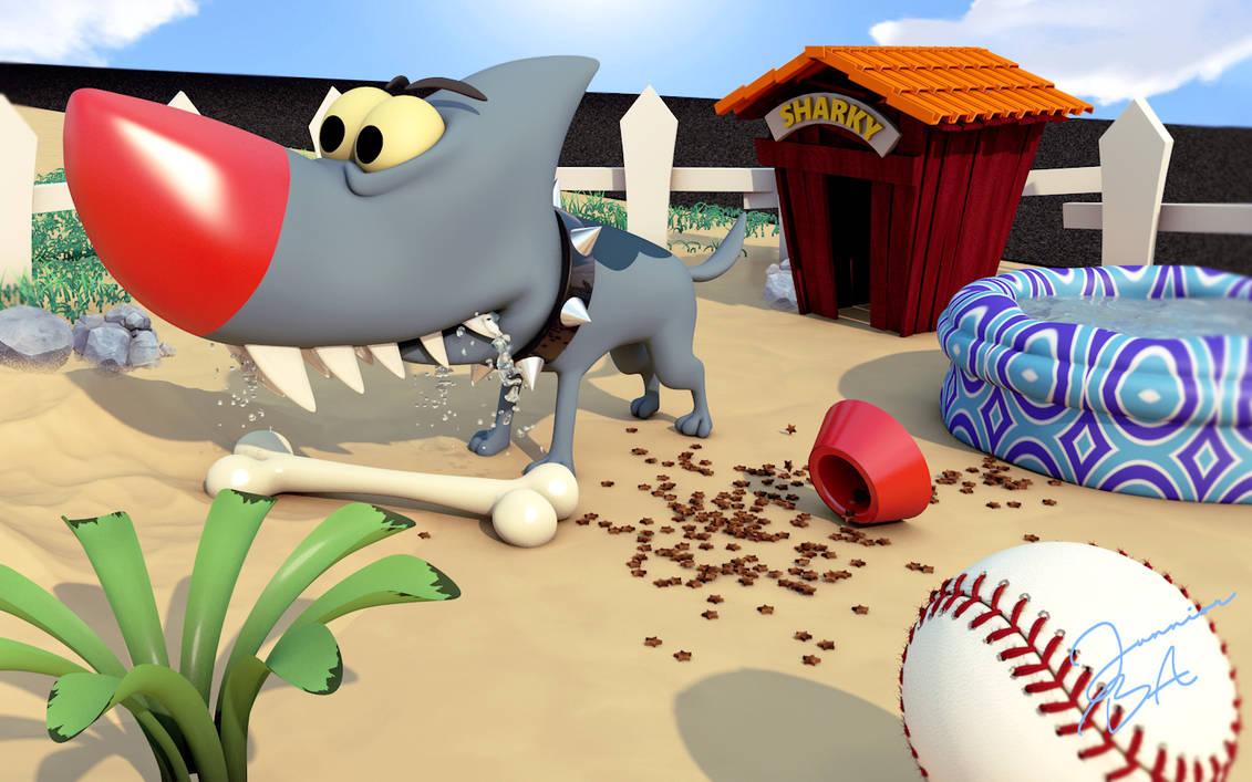 Sharky ) Eek the cat 3D cartoon cinema 4d by junnioor on DeviantArt