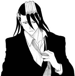 Byakuya black and white edit by Saphyrr