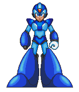 Custom fullbody Megaman X mugshot by DanmanX5792