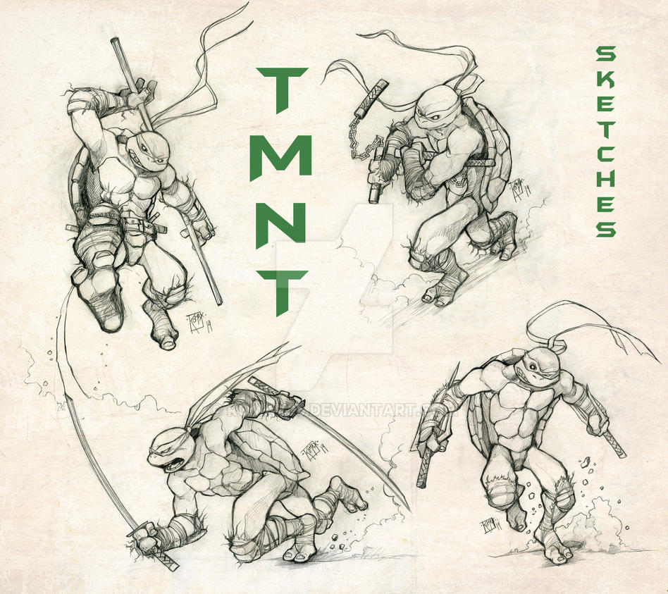 TMNT BROS Sketch by Romax25