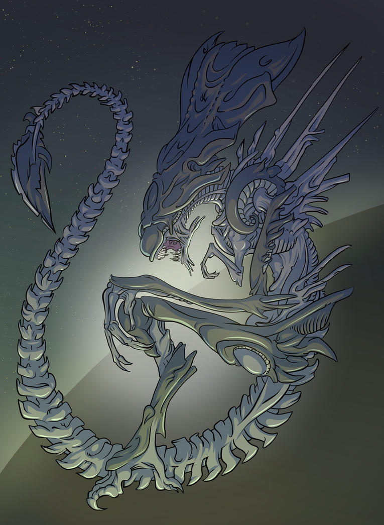 Xenomorph Queen by mogstomp
