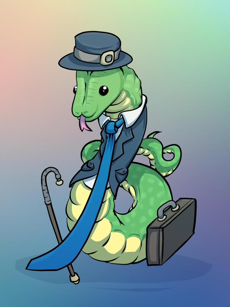 Fancy Snake by mogstomp