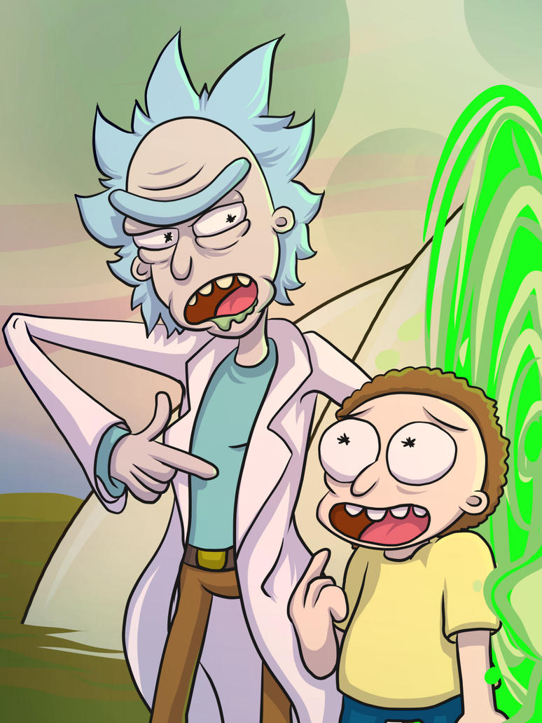 Rick and Morty by mogstomp