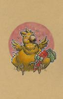 Fat Chocobo by mogstomp