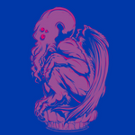 Cthulhu Statue - Bisexual flag colours