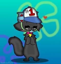 soda drinking hat kitty