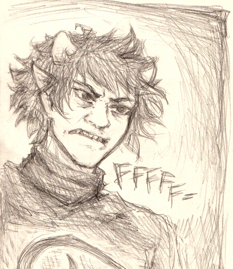 Scribbles, sketches, and WIPs - Page 3 Karkat_by_phantomteacup-d5n7gc9