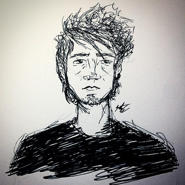 Quick Self-Portrait by Fergus1122