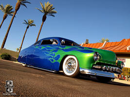 Green on Blue Merc by Swanee3