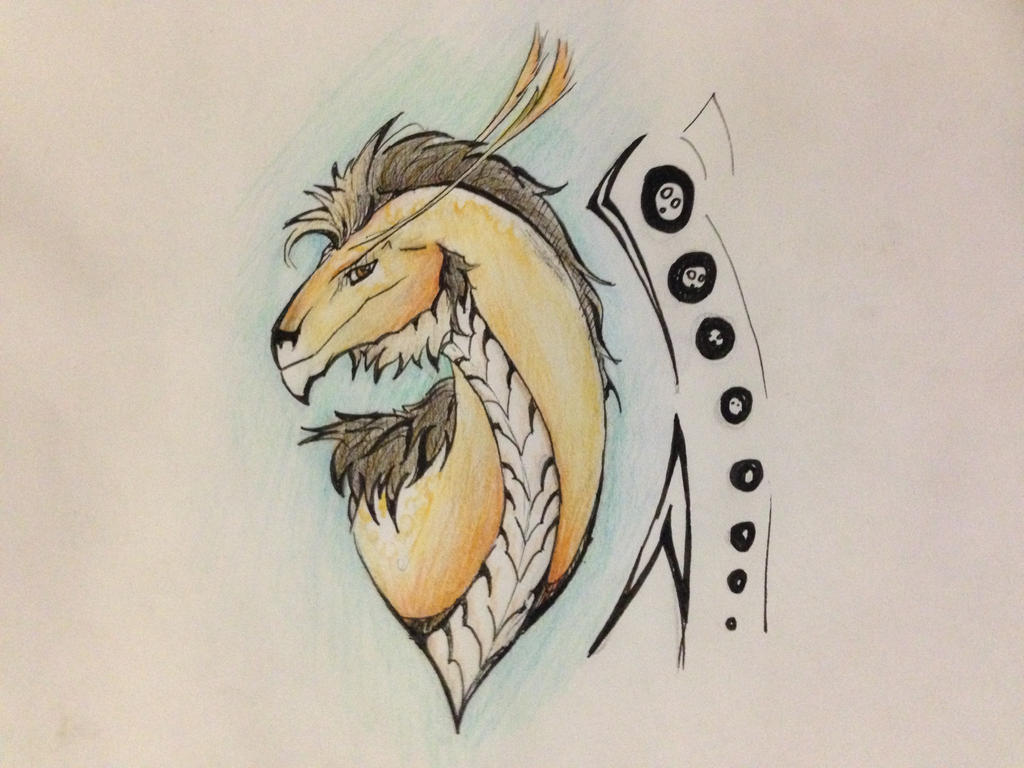 Dragon headshot no.2 by N1njaChick