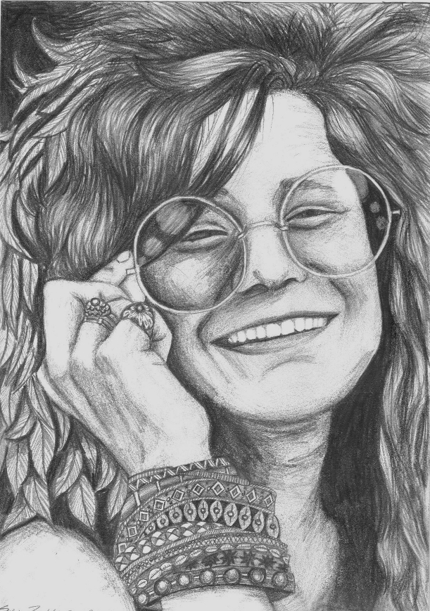 It's just an image of Ambitious Janis Joplin Drawing
