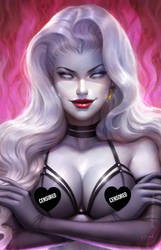 Lady Death Cataclysmic Majesty cover (censored)