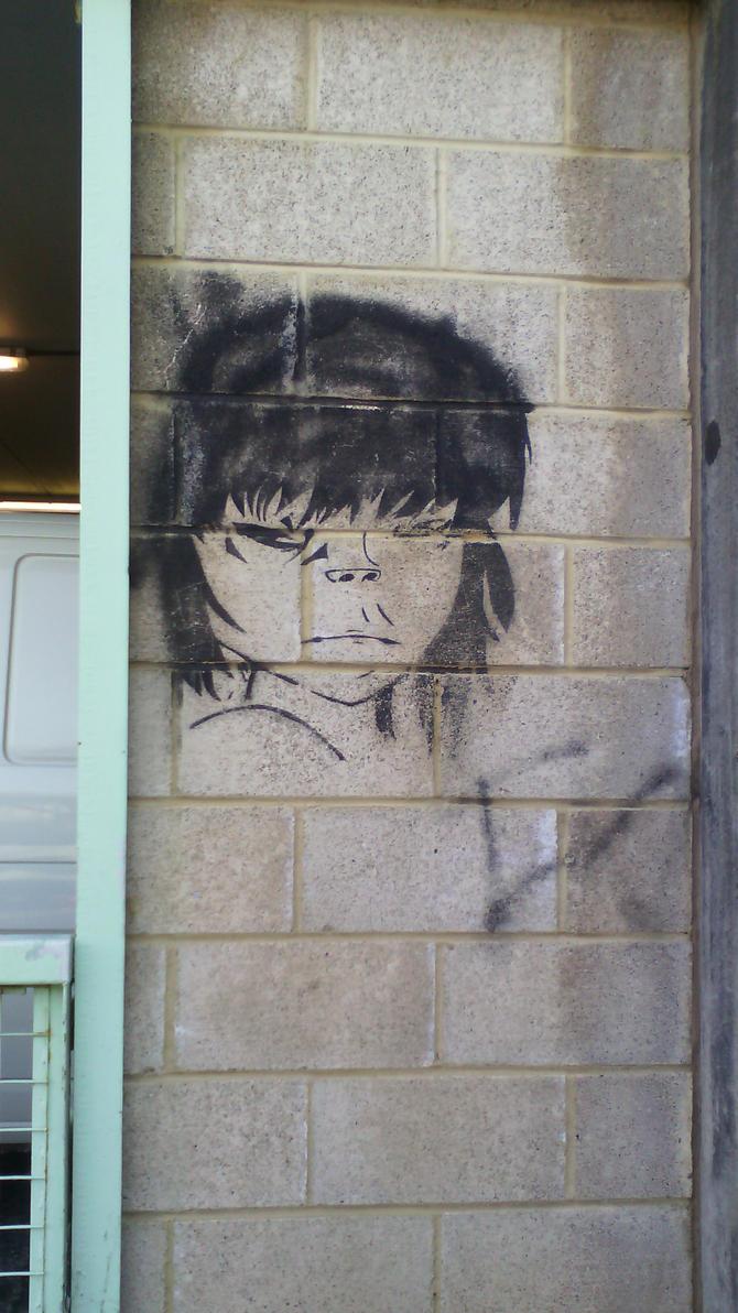 Noodle Graffiti Art -Gorillaz- by MC-Gemstone