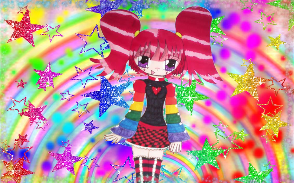 Pretty Rainbow Girl!
