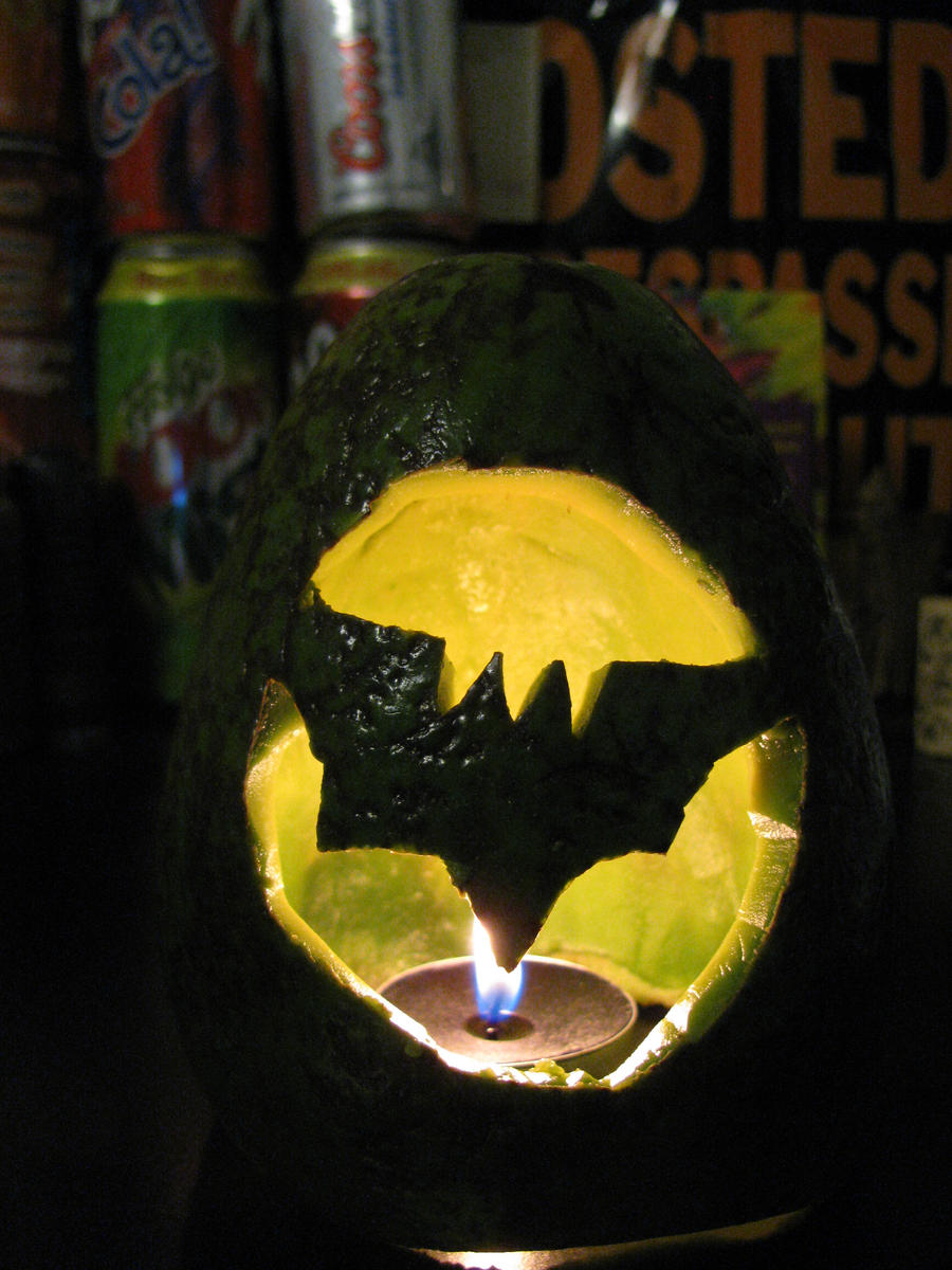 The Epic Batman Avocado by zigan-with-felines