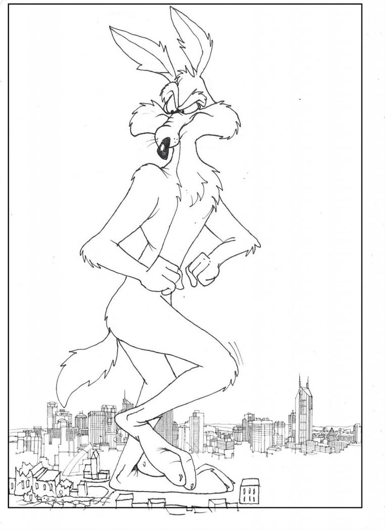 Old Fashioned Wile E Coyote Coloring Pages Sketch - Framing Coloring ...