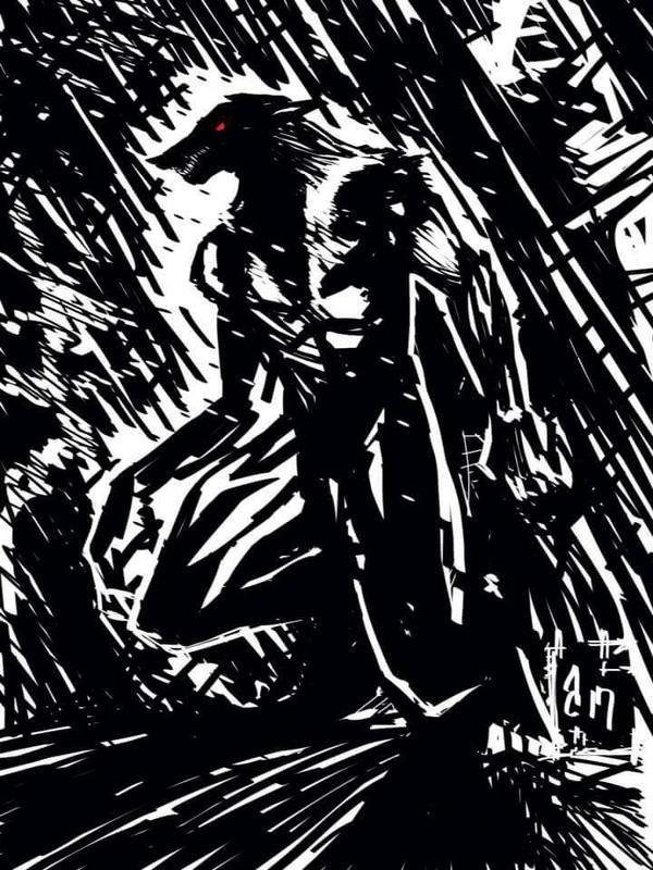 werewolf at night by vagrantmidget