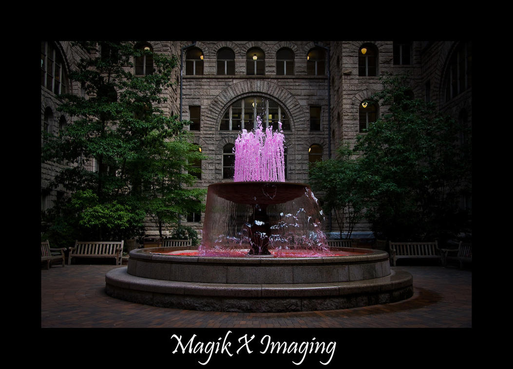 Pink Fountain by MagikTrik