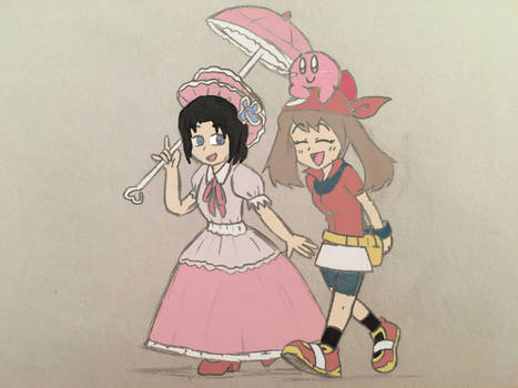 a walk with a friend(colored)