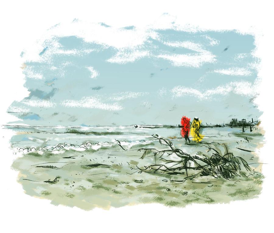 Autumn on the beach