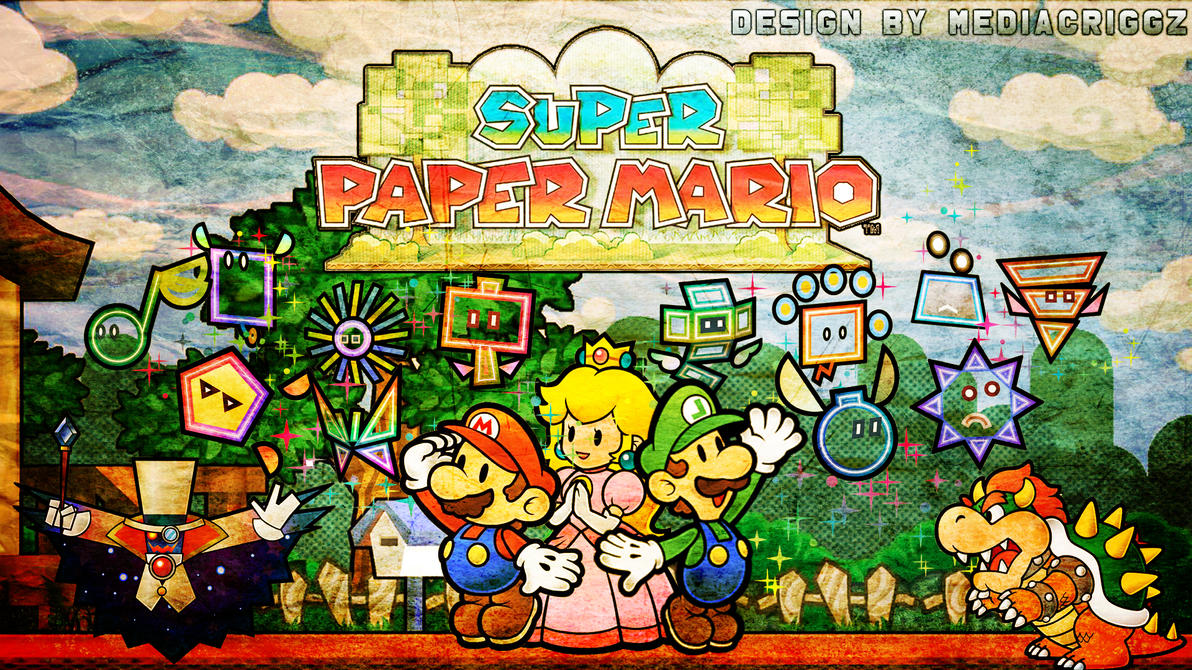 Super Paper Mario Wallpaper By MediaCriggz