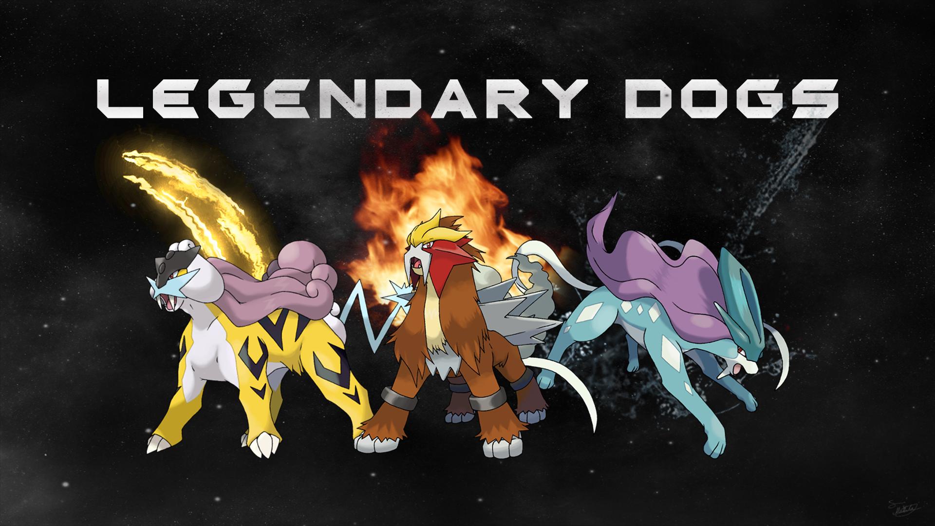 Pokemon Wallpaper Legendary Dogs
