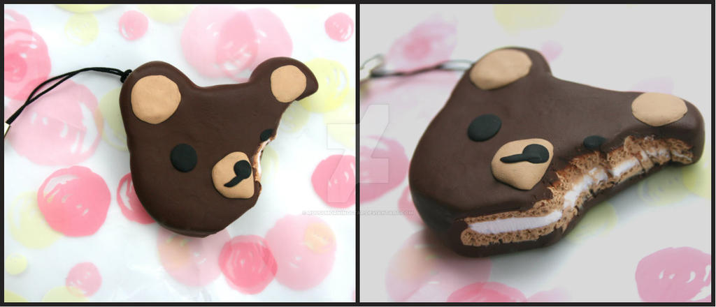 Rilakkuma Moon Pie Charm by RuusuMorningstar