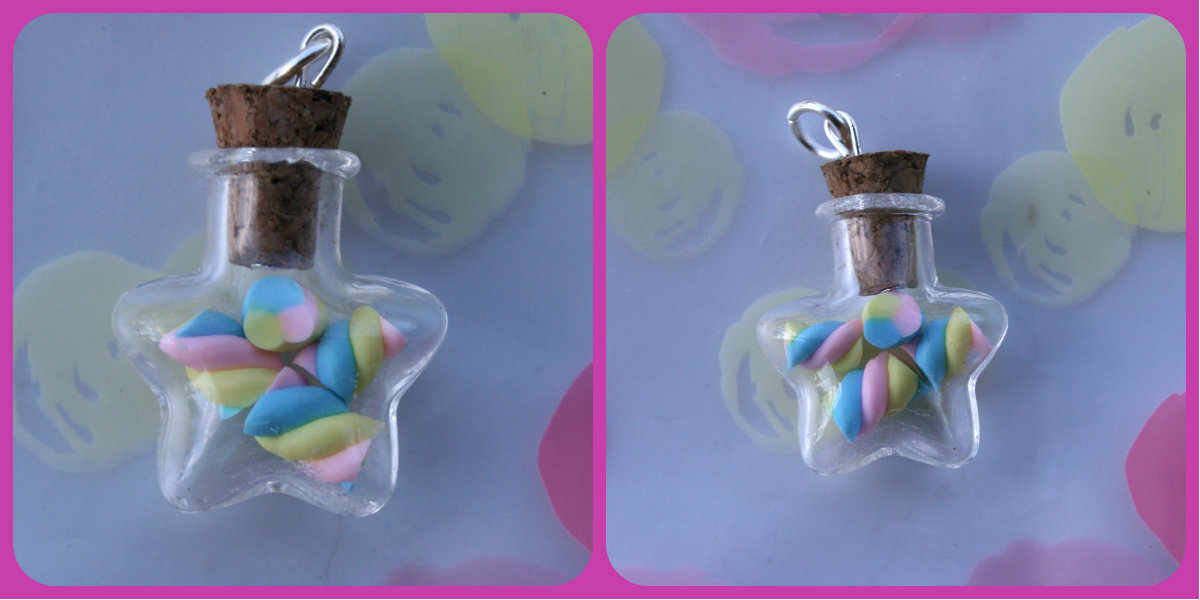Marshmallow Star Bottle Charm by RuusuMorningstar