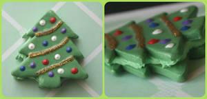 Christmas Tree Macaron Ornament- Light Green