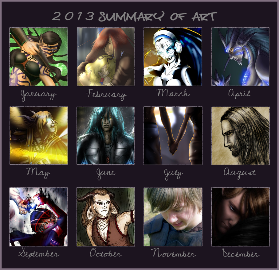 2013 Summary of Art by EjLizardbreath