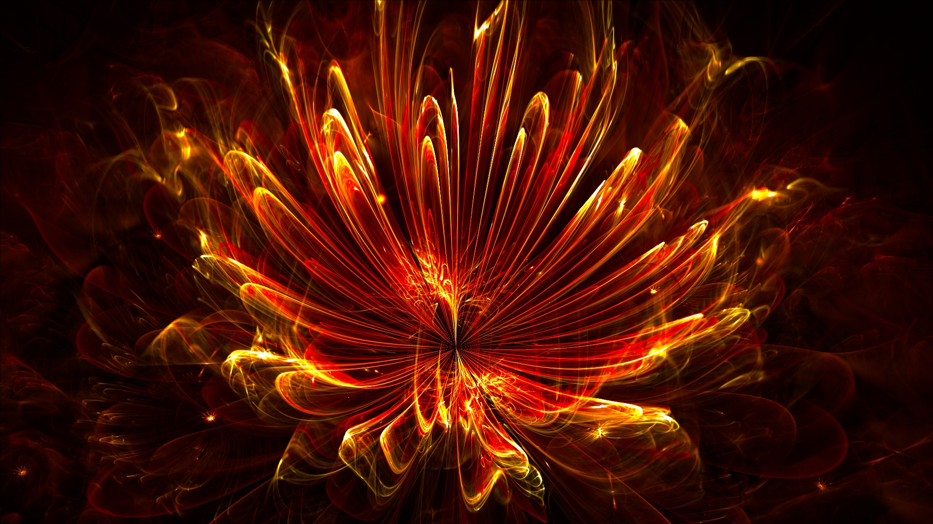 Fiery flower - HDR render by thargor6