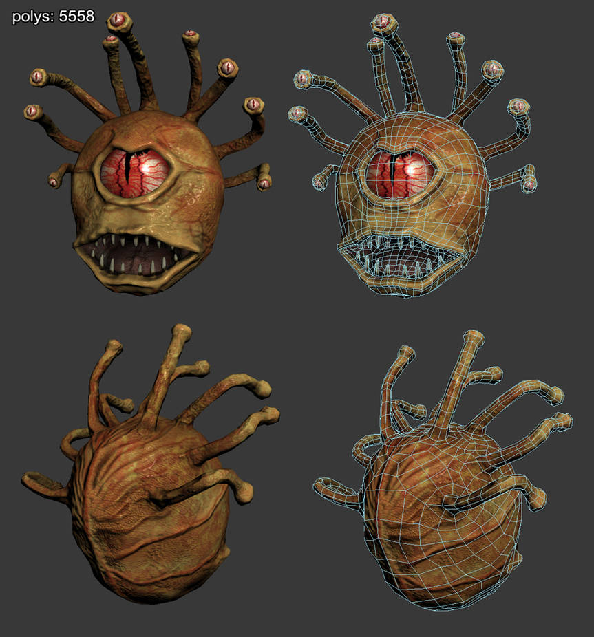 Beholder - low poly model