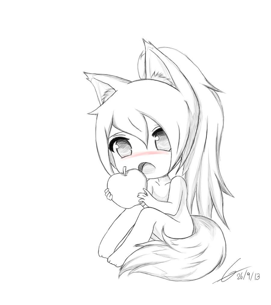 chibi fox owo by potatochipery on deviantart