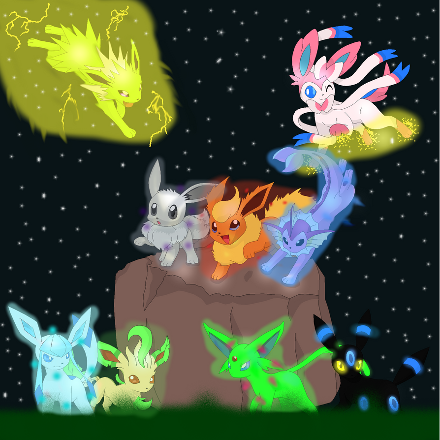 Shiny Eevee Evolutions Pictures to Pin on Pinterest ...