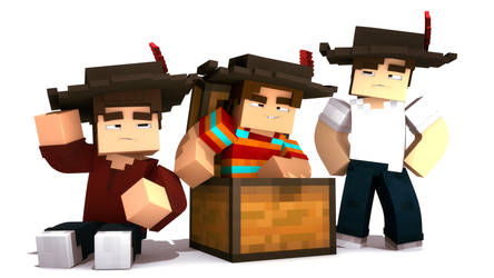 The Three Musketeers (Minecraft) by SpasionInAction