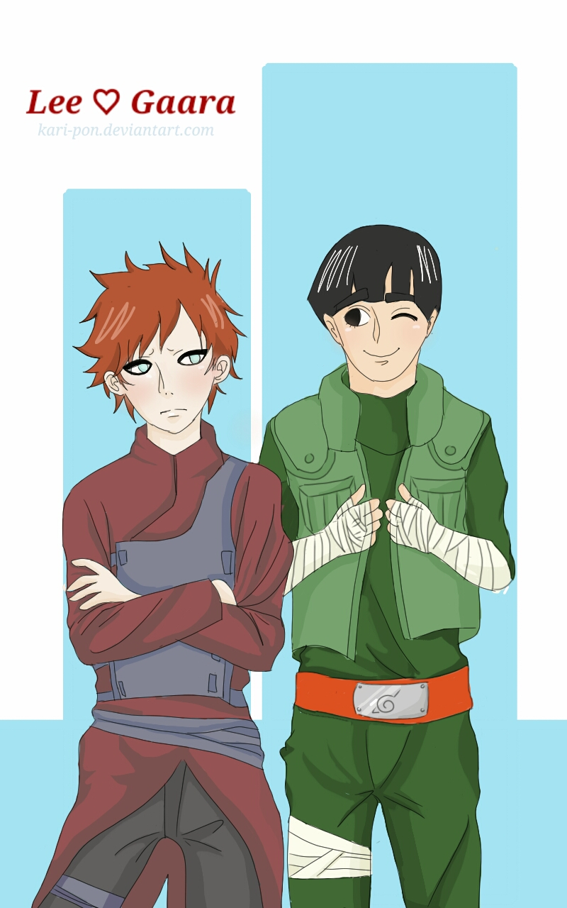 Lee and Gaara by Kari-pon on DeviantArt Gaara And Lee