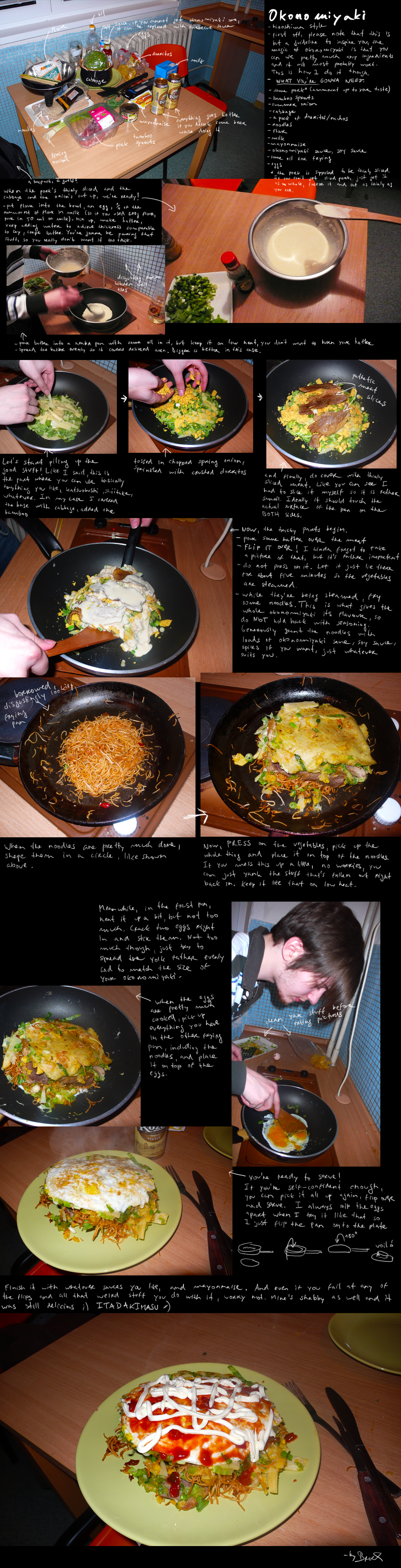 How to make okonomiyaki by BrocX