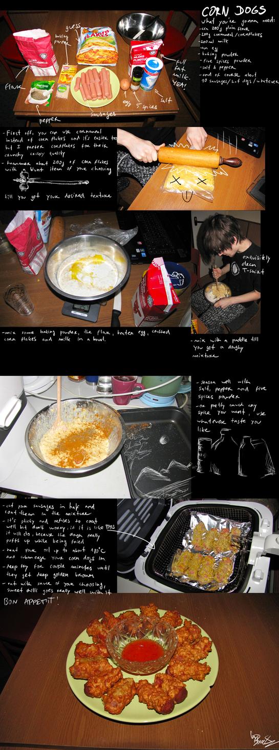how to make mozzarella corn dogs