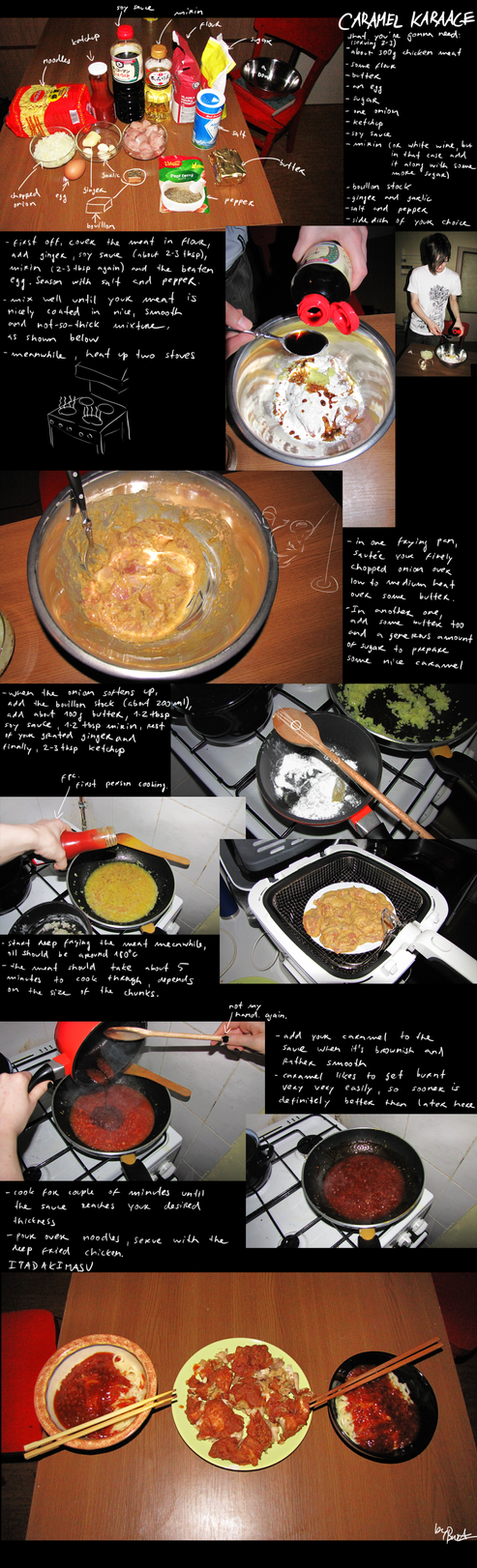 How to make caramel karaage by BrocX