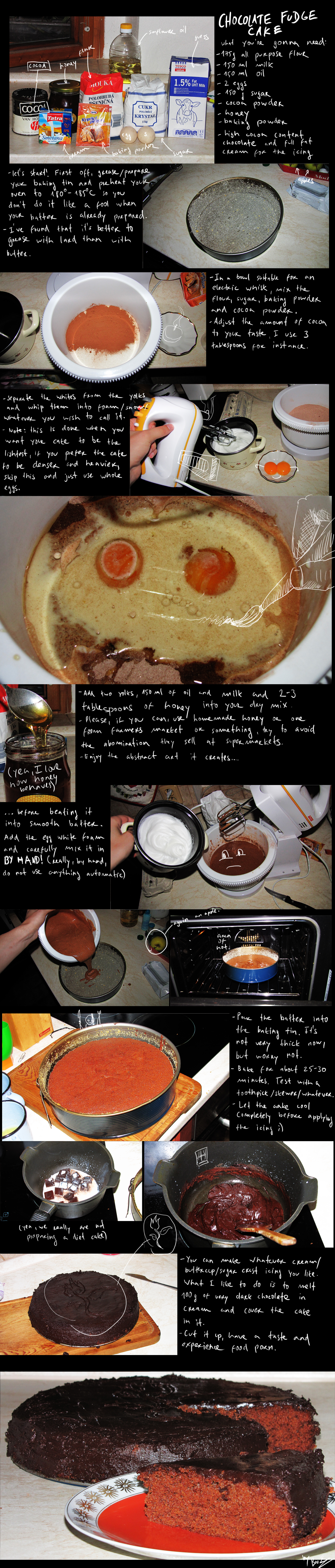 How to make chocolate fudge cake by BrocX