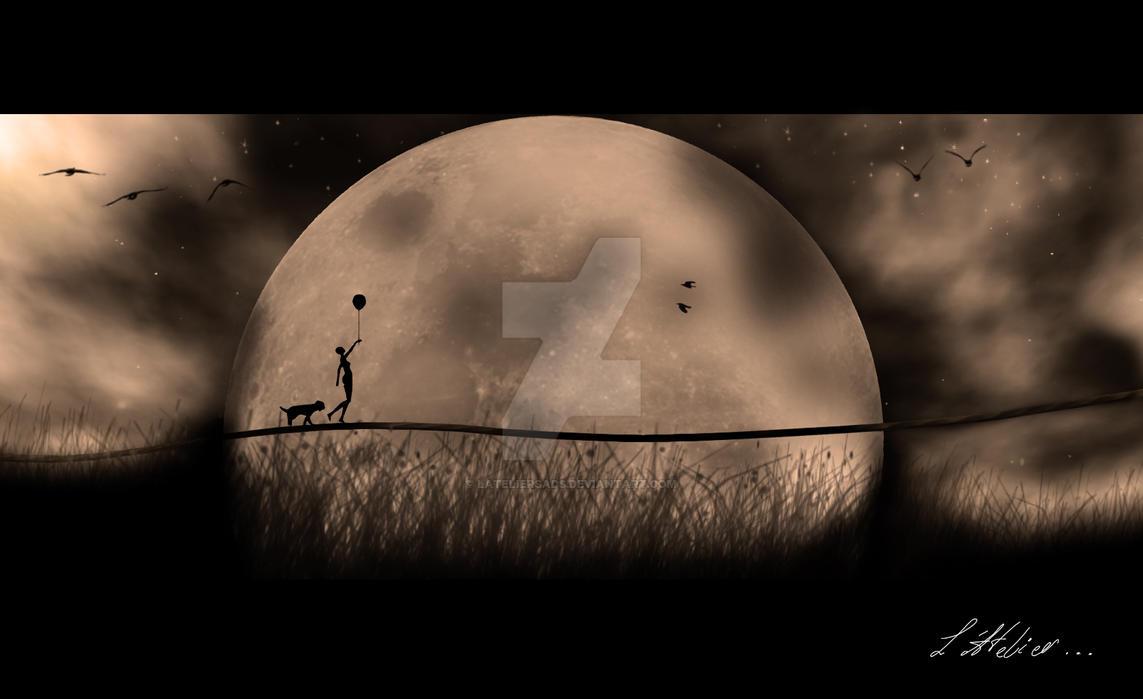 Walking in the Moon... by LAtelierSads