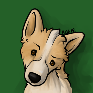Corgi Headshot by Roguelucifer