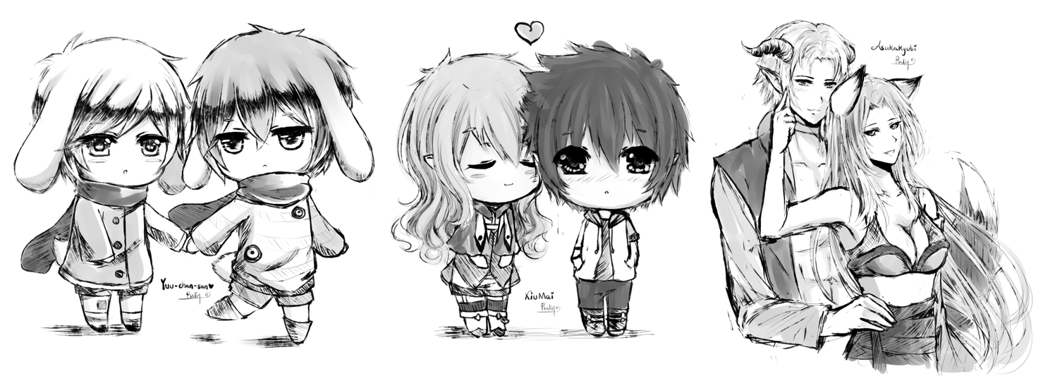 how to draw an chibi couple