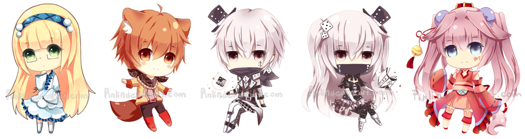 Chibi commission batch by Pinlin