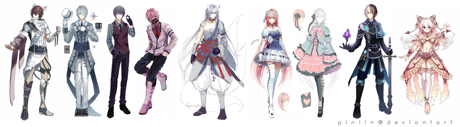 Character Design Deviantart : Character designs by pinlin on deviantart