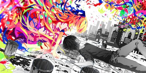 Monochrome meets Color by Pinlin