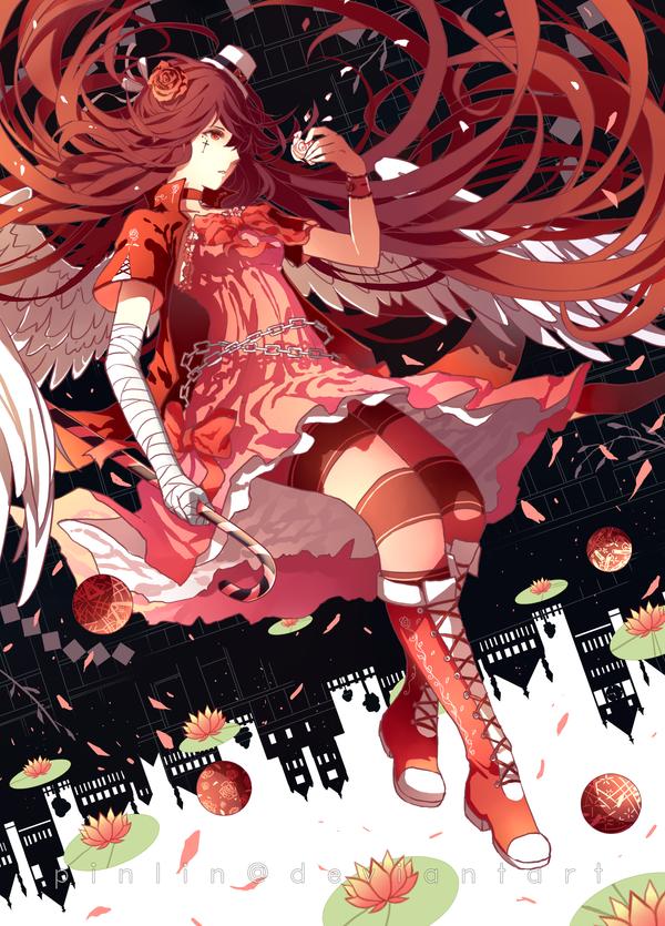Crimson rose by Pinlin