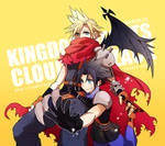 Kingdom Hearts Cloud and Zack