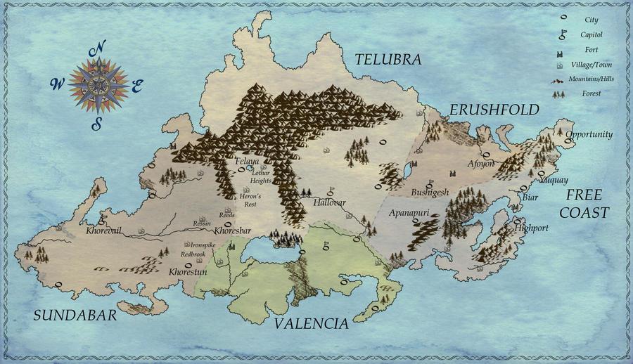 Map of Caldonia by Elfhawk